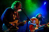 Ryan Needham and Liza Violet of the British indie rock band Menace Beach perform at London Calling Paradiso Amsterdam Netherlands 09 May 2014
