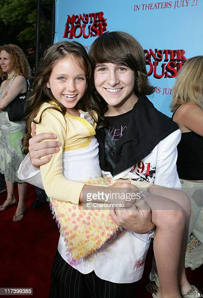 Ryan Newman and Mitchel Musso during Los Angeles Premiere of Columbia Pictures 'Monster House' at Mann Village in Westwood California United States