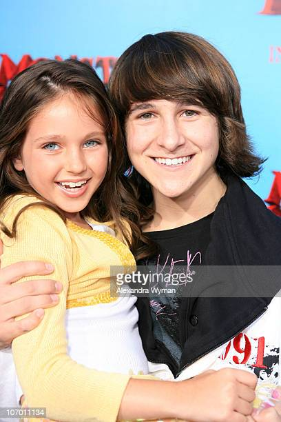 Ryan Newman and Mitchel Musso during 'Monster House' Los Angeles Premiere Red Carpet at Mann Village in Westwood California United States