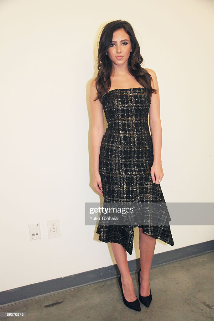 Ryan Newman attends the Jay Godfrey presentation during Spring 2016 New York Fashion Week at Pier 59 on September 12 2015 in New York City