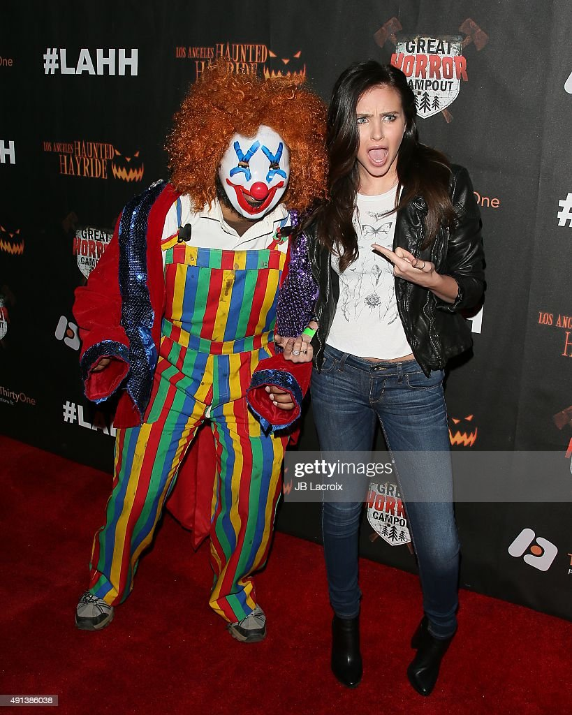 Ryan Newman attends the Los Angeles Haunted Hayride Black Carpet Premiere Night in Griffith Park on October 4 2015 in Los Angeles California