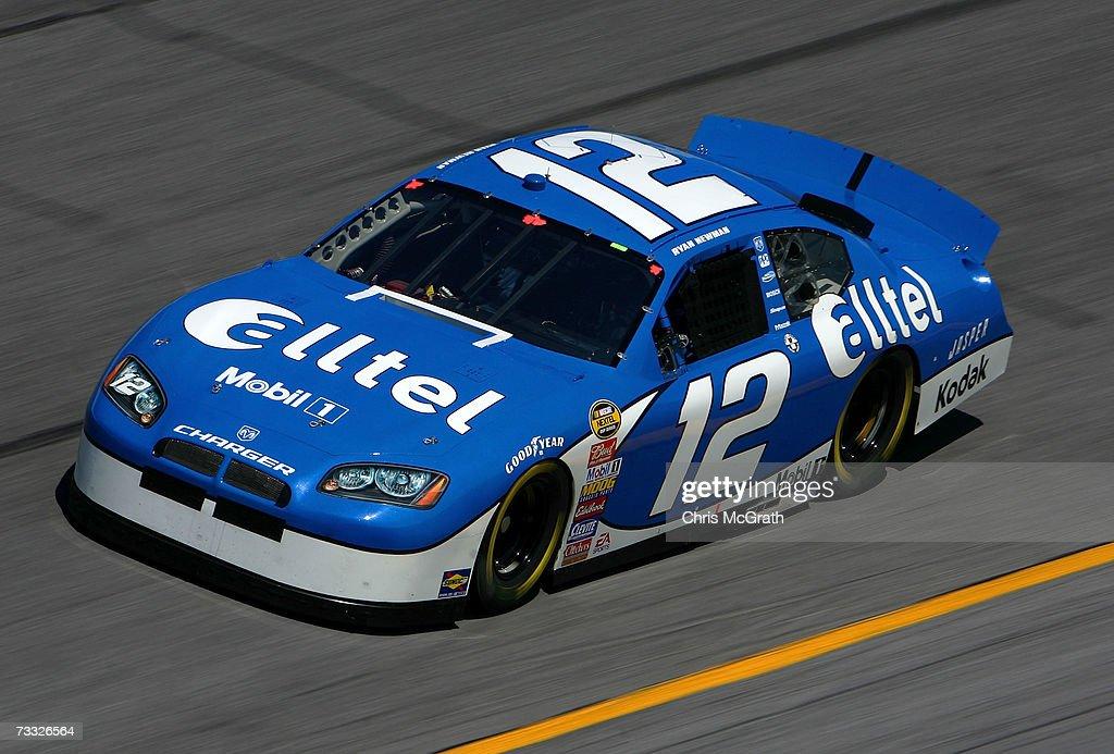 Ryan Newman driver of the Alltel Dodge drives during practice for the Daytona 500 at Daytona International Speedway on February 14 2007 in Daytona...