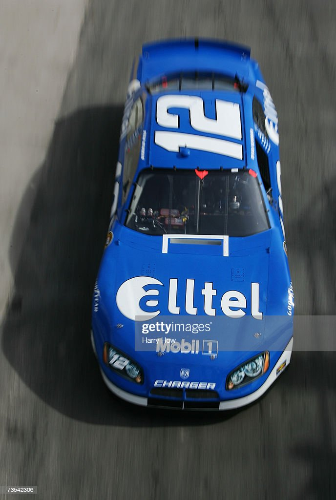 Ryan Newman driver of the Alltel Dodge drives towards the track during practice for the NASCAR Nextel Cup Series UAWDaimlerChrysler 400 at Las Vegas...