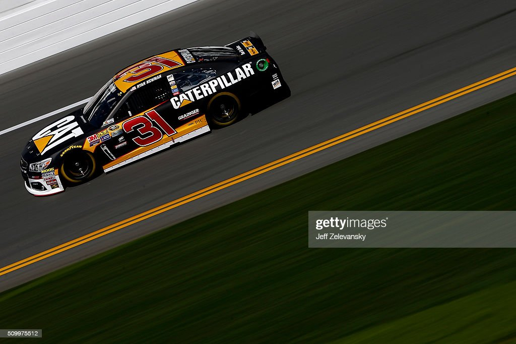 Ryan Newman, driver of the #31 CAT Chevrolet, practices for the NASCAR Sprint Cup Series Daytona 500 at Daytona International Speedway on February 13, 2016 in Daytona Beach, Florida.