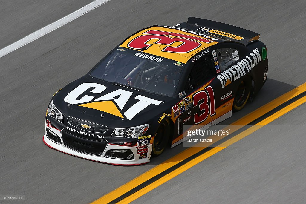 <a gi-track='captionPersonalityLinkClicked' href=/galleries/search?phrase=Ryan+Newman+-+Race+Car+Driver&family=editorial&specificpeople=12773547 ng-click='$event.stopPropagation()'>Ryan Newman</a>, driver of the #31 Caterpillar Chevrolet, practices for the NASCAR Sprint Cup Series GEICO 500 at Talladega Superspeedway on April 29, 2016 in Talladega, Alabama.