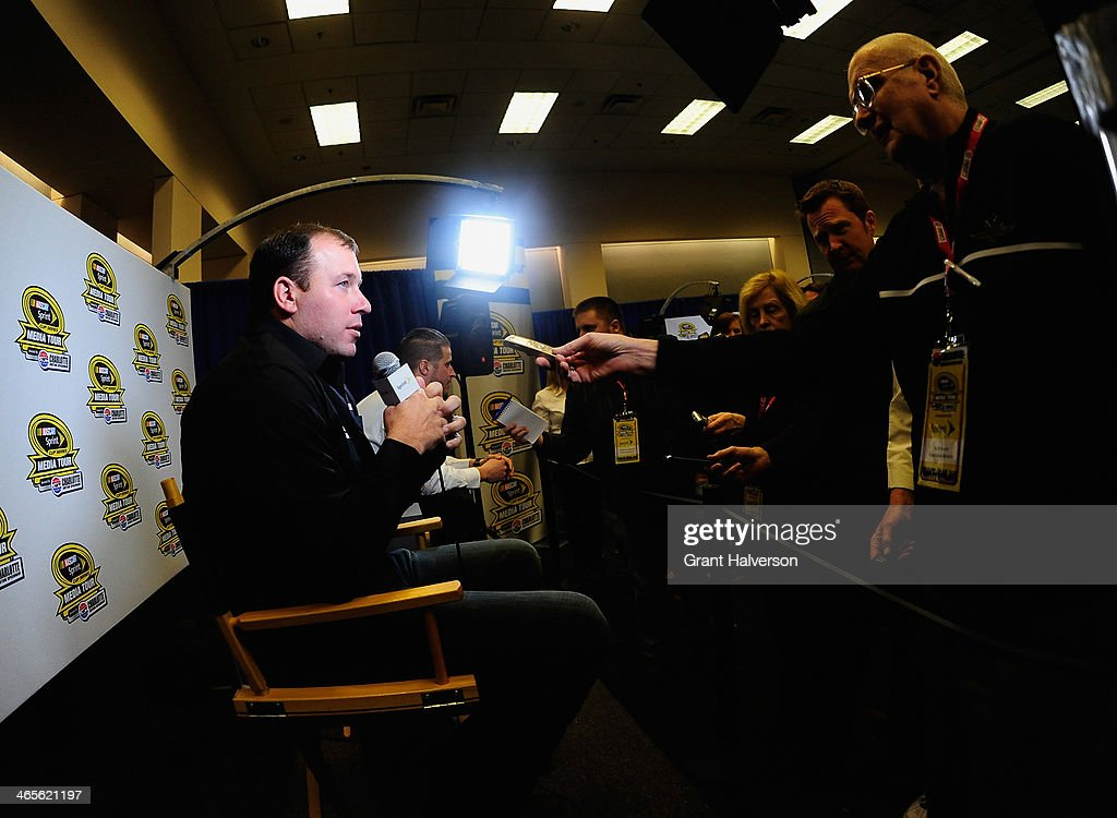 Ryan Newman, driver of the #31 Caterpillar/Quicken Loans Chevrolet, speaks with the media during the NASCAR Sprint Media Tour at Charlotte Convention Center on January 28, 2014 in Charlotte, North Carolina.