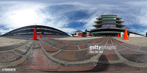 Ryan Newman driver of the Grainger Chevrolet drives down pit road during practice for the NASCAR Sprint Cup Series Crown Royal presents the Combat...
