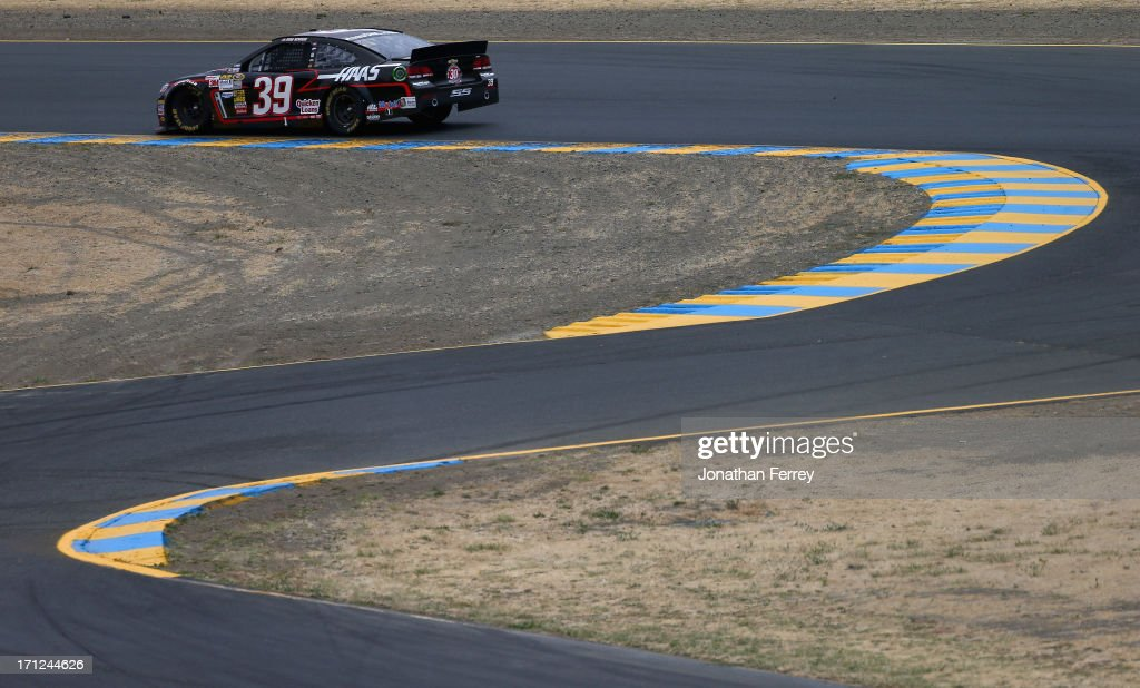 Ryan Newman, driver of the #39 Haas Automation 30th Anniversary Chevrolet, drives during the NASCAR Sprint Cup Series Toyota/Save Mart 350 at Sonoma Raceway on June 23, 2013 in Sonoma, California.