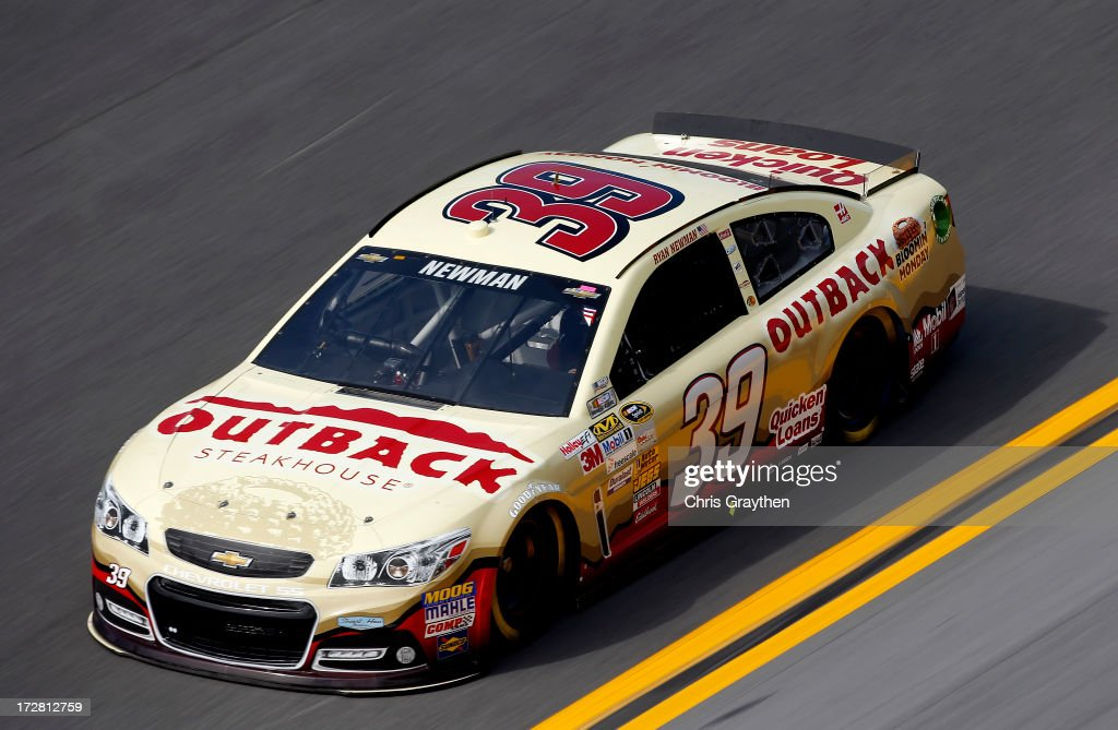 Ryan Newman, driver of the #39 Outback Steakhouse Chevrolet, races during practice for the NASCAR Sprint Cup Series Coke Zero 400 at Daytona International Speedway on July 4, 2013 in Daytona Beach, Florida.