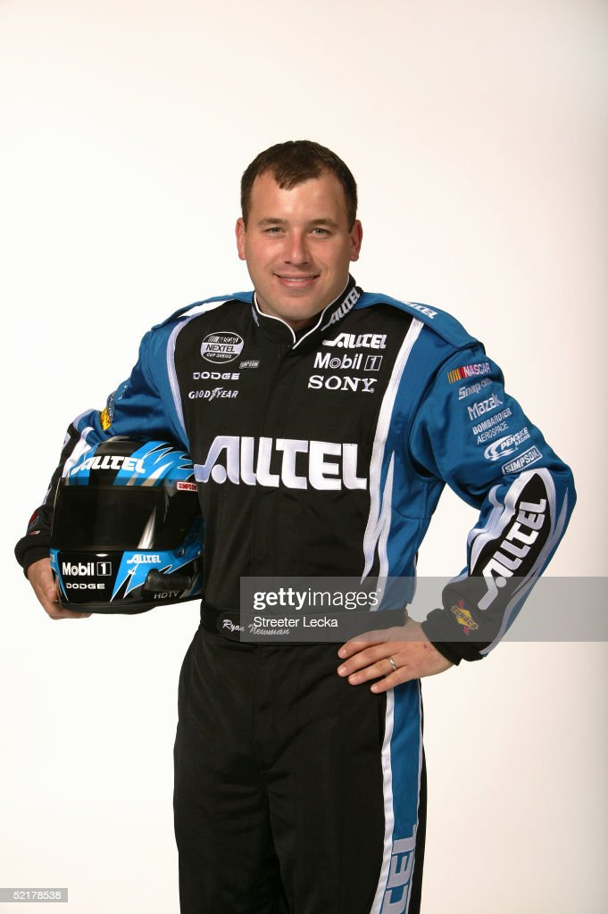 Ryan Newman driver of the Penske Racing Alltel Dodge Charger is shown during media day at the NASCAR Nextel Cup Daytona 500 on February 10 2005 at...