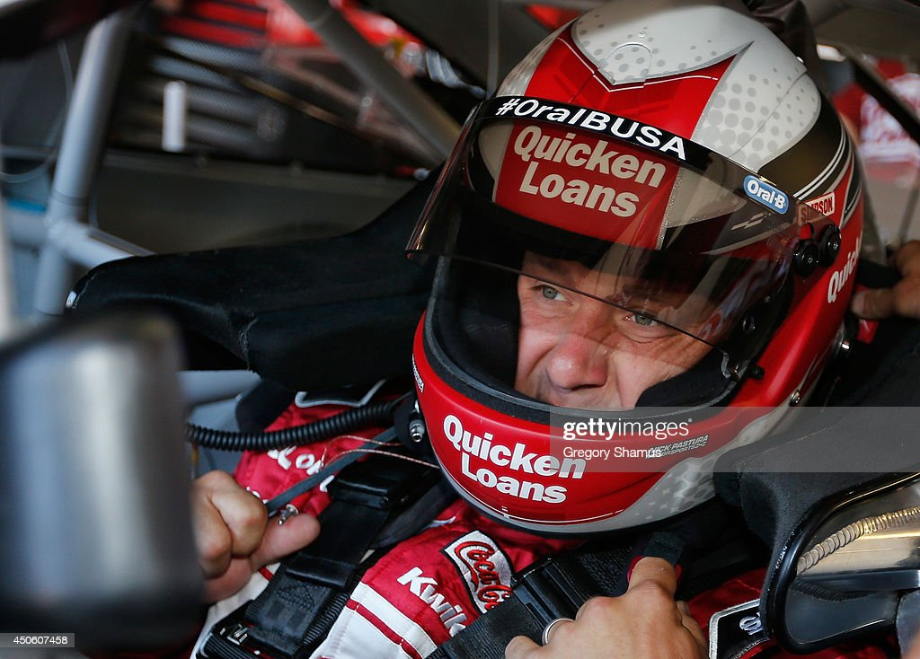 Ryan Newman, driver of the #31 Quicken Loans Chevrolet, sits in his car in the garage area during practice for the NASCAR Sprint Cup Series Quicken Loans 400 at Michigan International Speedway on June 14, 2014 in Brooklyn, Michigan.
