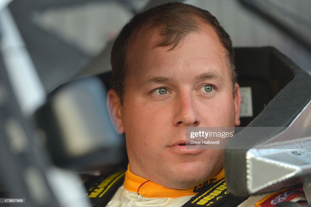 Ryan Newman driver of the Quicken Loans Chevrolet sits in his car during qualifying for the NASCAR Sprint Cup Series Sprint AllStar Race at Charlotte...