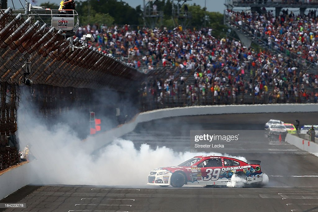 Ryan Newman, driver of the #39 Quicken Loans/The Smurfs Chevrolet, during the NASCAR Sprint Cup Series Samuel Deeds 400 At The Brickyard at Indianapolis Motor Speedway on July 28, 2013 in Indianapolis, Indiana.