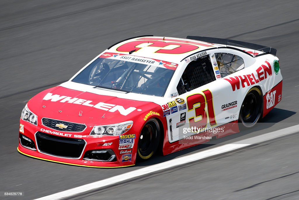 <a gi-track='captionPersonalityLinkClicked' href=/galleries/search?phrase=Ryan+Newman+-+Race+Car+Driver&family=editorial&specificpeople=12773547 ng-click='$event.stopPropagation()'>Ryan Newman</a>, driver of the #31 Whelen Chevrolet, practices for the NASCAR Sprint Cup Series Coca-Cola 600 at Charlotte Motor Speedway on May 27, 2016 in Charlotte, North Carolina.