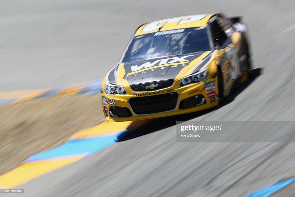 <a gi-track='captionPersonalityLinkClicked' href=/galleries/search?phrase=Ryan+Newman+-+Race+Car+Driver&family=editorial&specificpeople=12773547 ng-click='$event.stopPropagation()'>Ryan Newman</a>, driver of the #31 WIX Filters Chevrolet, drives during practice for the NASCAR Sprint Cup Series Toyota/Save Mart 350 at Sonoma Raceway on June 24, 2016 in Sonoma, California.
