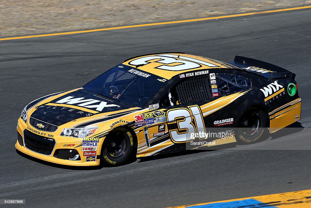 <a gi-track='captionPersonalityLinkClicked' href=/galleries/search?phrase=Ryan+Newman+-+Race+Car+Driver&family=editorial&specificpeople=12773547 ng-click='$event.stopPropagation()'>Ryan Newman</a>, driver of the #31 WIX Filters Chevrolet, practices for the NASCAR Sprint Cup Series Toyota/Save Mart 350 at Sonoma Raceway on June 24, 2016 in Sonoma, California.