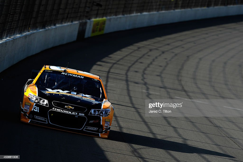 Ryan Newman, driver of the #31 WIX Filters Chevrolet, qualifies for the NASCAR Sprint Cup Series Pure Michigan 400 at Michigan International Speedway on August 15, 2014 in Brooklyn, Michigan.