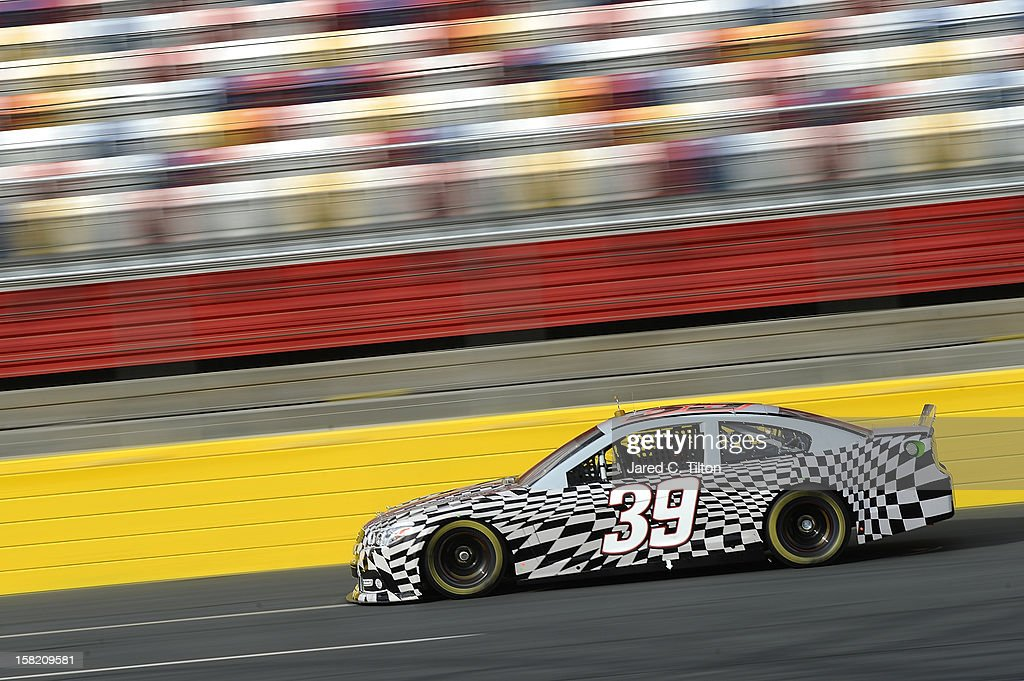 Ryan Newman drives the #39 Stewart-Haas Racing Chevrolet during testing at Charlotte Motor Speedway on December 11, 2012 in Concord, North Carolina.
