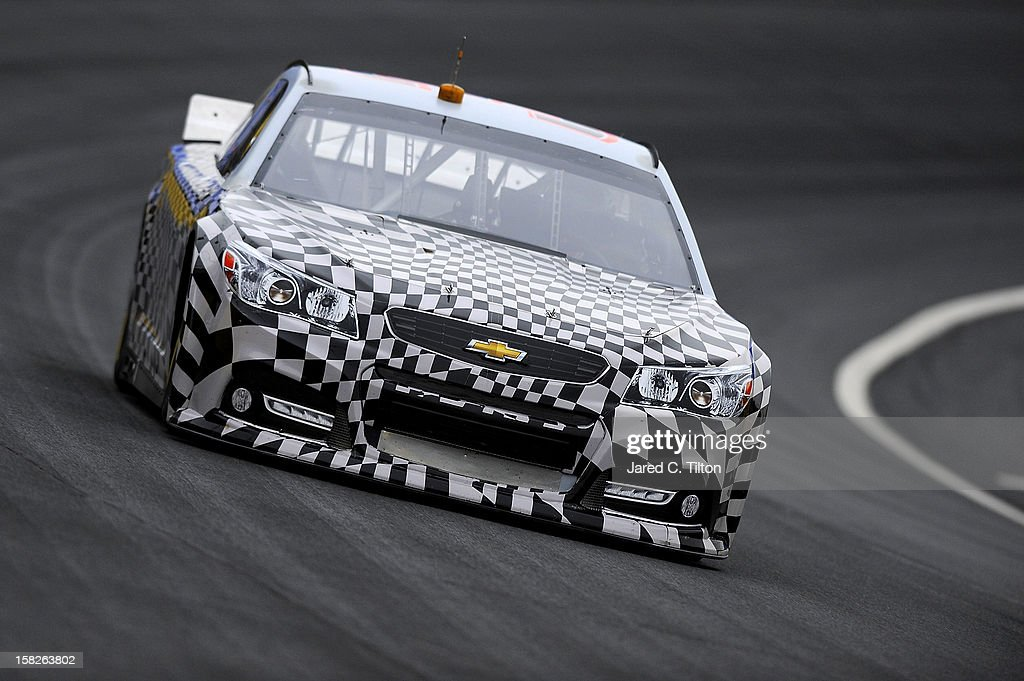 Ryan Newman drives the Stewart-Haas Racing Chevrolet during testing at Charlotte Motor Speedway on December 12, 2012 in Concord, North Carolina.
