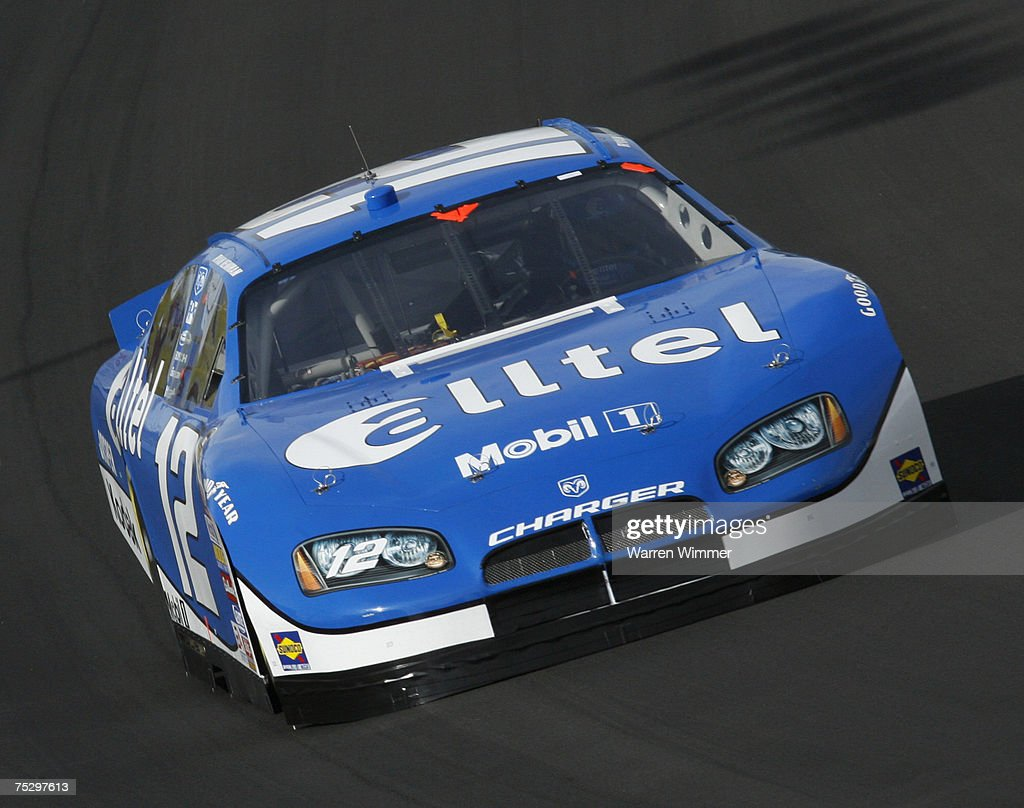 Ryan Newman driving his race car during race action at the Las Vegas Motor Speedway Las Vegas Nv on March 11 2007 Driver Jimmie Johnson would go on...
