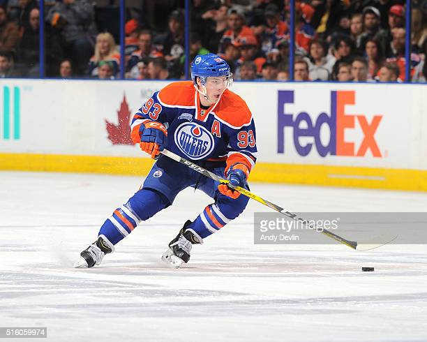 Ryan NugentHopkins of the Edmonton Oilers skates during a game against the St Louis Blues on March 16 2016 at Rexall Place in Edmonton Alberta Canada