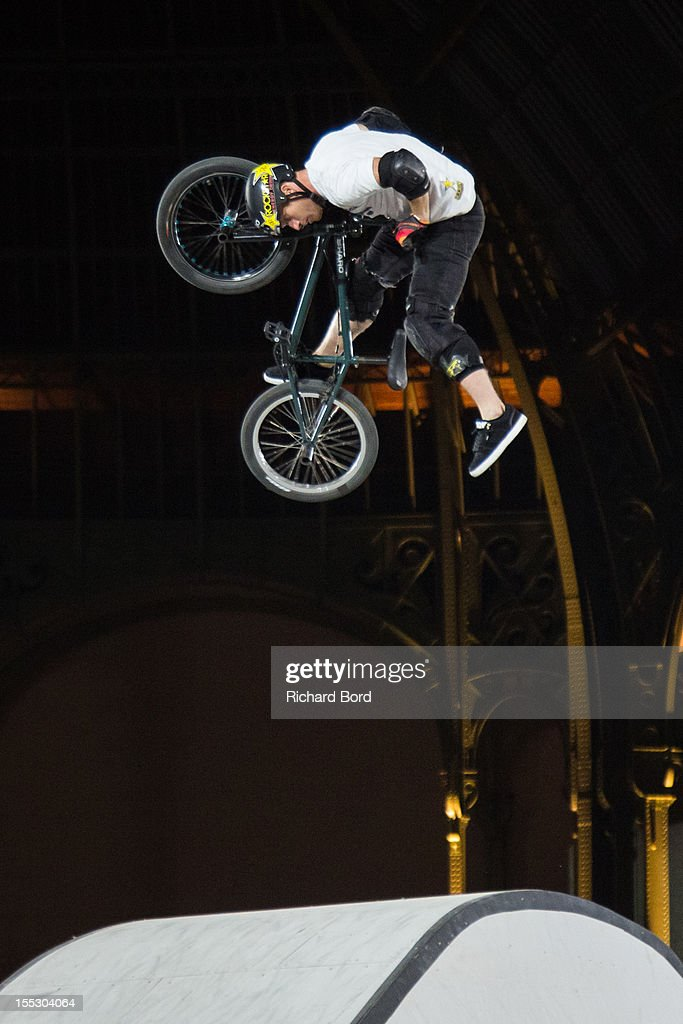 <a gi-track='captionPersonalityLinkClicked' href=/galleries/search?phrase=Ryan+Nyquist&family=editorial&specificpeople=2962664 ng-click='$event.stopPropagation()'>Ryan Nyquist</a> from the USA performs during the finals of the RedBull Skylines BMX Contest at Grand Palais on November 2, 2012 in Paris, France.