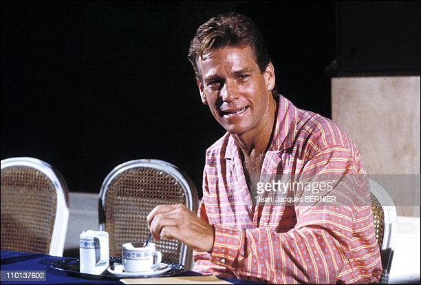 Ryan O' Neal at the festival in DeauvilleFrance on September 11th1984
