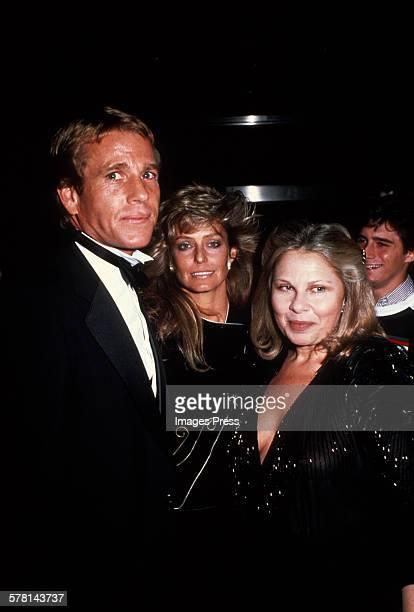 Ryan O'Neal Farrah Fawcett and Sue Mengers circa 1981 in New York City