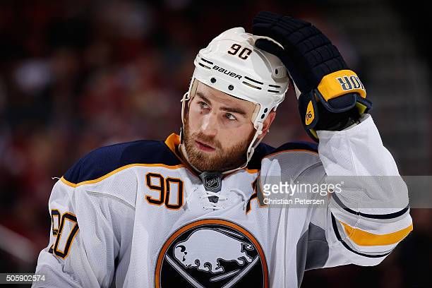 Ryan O'Reilly of the Buffalo Sabres during the NHL game against the Arizona Coyotes at Gila River Arena on January 18 2016 in Glendale Arizona The...