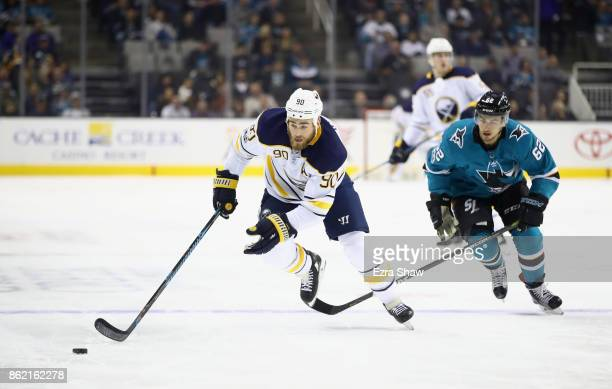 Ryan O'Reilly of the Buffalo Sabres in action against the San Jose Sharks at SAP Center on October 12 2017 in San Jose California