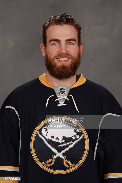 Ryan O'Reilly of the Buffalo Sabres poses for his official headshot for the 20152016 season on September 17 2015 at the First Niagara Center in...