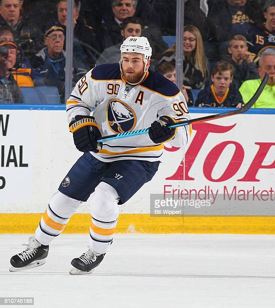 Ryan O'Reilly of the Buffalo Sabres skates against the Boston Bruins during an NHL game on February 4 2016 at the First Niagara Center in Buffalo New...