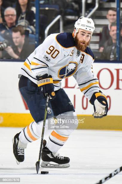Ryan O'Reilly of the Buffalo Sabres skates against the Columbus Blue Jackets on March 28 2017 at Nationwide Arena in Columbus Ohio Columbus defeated...
