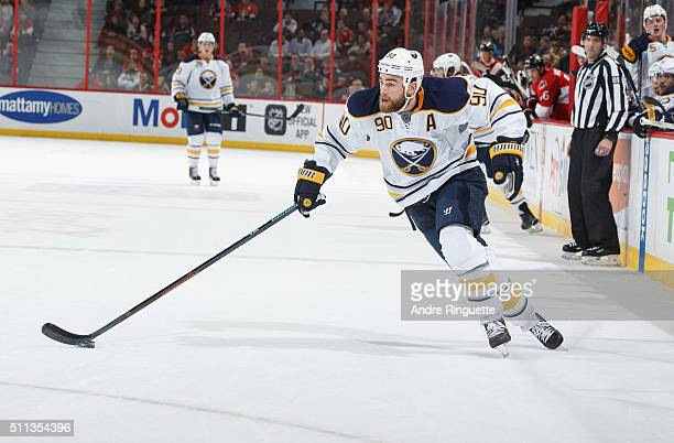 Ryan O'Reilly of the Buffalo Sabres skates against the Ottawa Senators at Canadian Tire Centre on February 16 2016 in Ottawa Ontario Canada