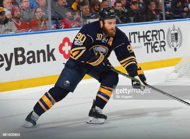 Ryan O'Reilly of the Buffalo Sabres skates during an NHL game against the Montreal Canadiens at KeyBank Center on April 5 2017 in Buffalo New York