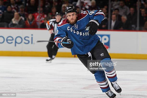 Ryan O'Reilly of the Colorado Avalanche skates against the New Jersey Devils at the Pepsi Center on March 12 2015 in Denver Colorado The Avalanche...