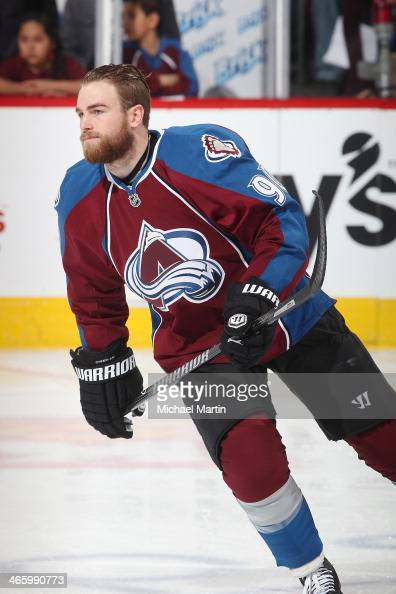 Ryan O'Reilly of the Colorado Avalanche skates prior to the game against the Minnesota Wild at the Pepsi Center on January 30 2014 in Denver Colorado