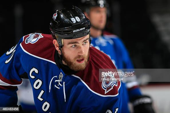 Ryan O'Reilly of the Colorado Avalanche warms up prior to facing the Winnipeg Jets at Pepsi Center on December 11 2014 in Denver Colorado The...