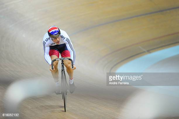 Ryan Owens during the Track Cycling European Championship at Velodrome National on October 21 2016 in Saint Quentin en Yvelines France