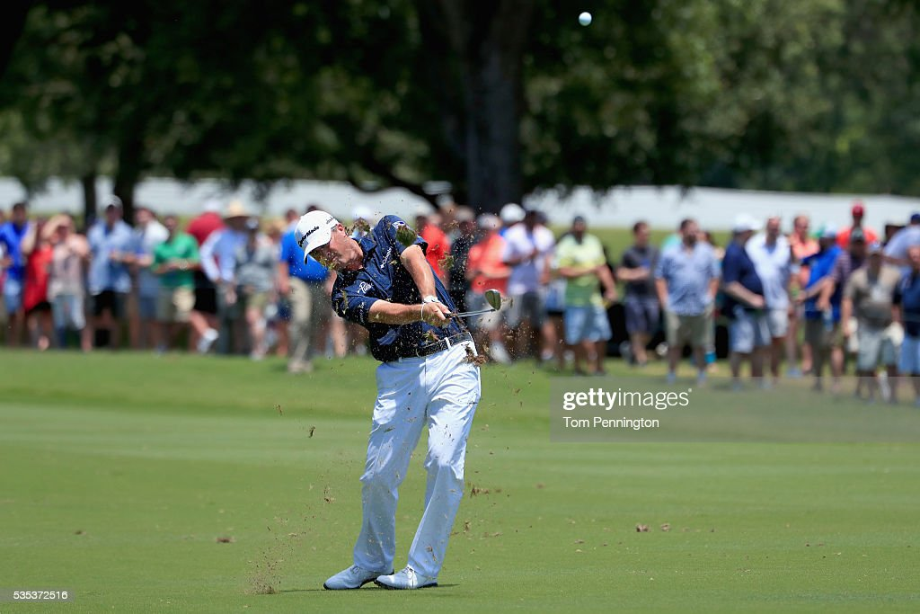 <a gi-track='captionPersonalityLinkClicked' href=/galleries/search?phrase=Ryan+Palmer&family=editorial&specificpeople=240538 ng-click='$event.stopPropagation()'>Ryan Palmer</a> hits a shot on the sixth hole during the Final Round of the DEAN & DELUCA Invitational at Colonial Country Club on May 29, 2016 in Fort Worth, Texas.