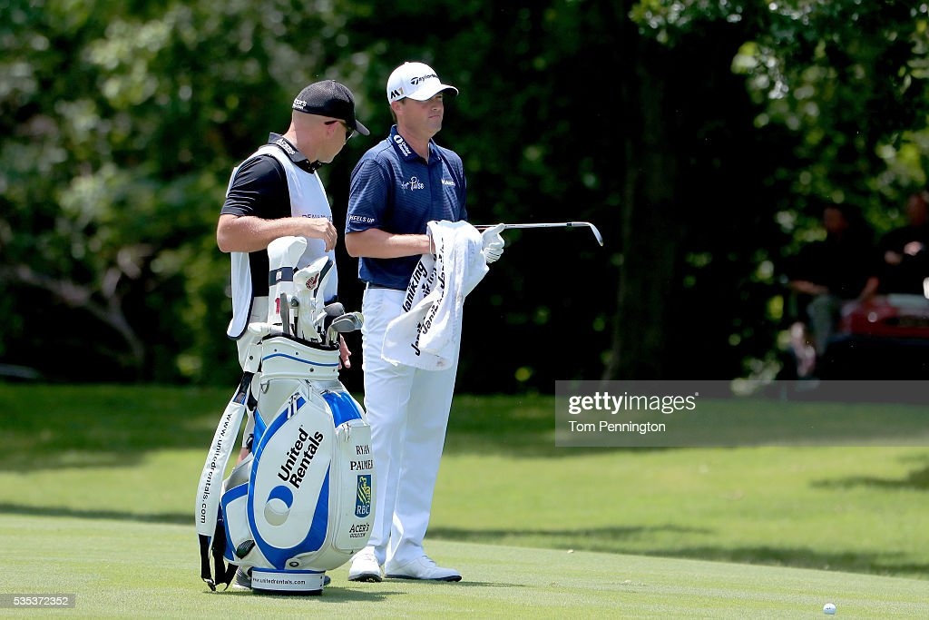 <a gi-track='captionPersonalityLinkClicked' href=/galleries/search?phrase=Ryan+Palmer&family=editorial&specificpeople=240538 ng-click='$event.stopPropagation()'>Ryan Palmer</a> is seen with his caddie on the seventh hole during the Final Round of the DEAN & DELUCA Invitational at Colonial Country Club on May 29, 2016 in Fort Worth, Texas.