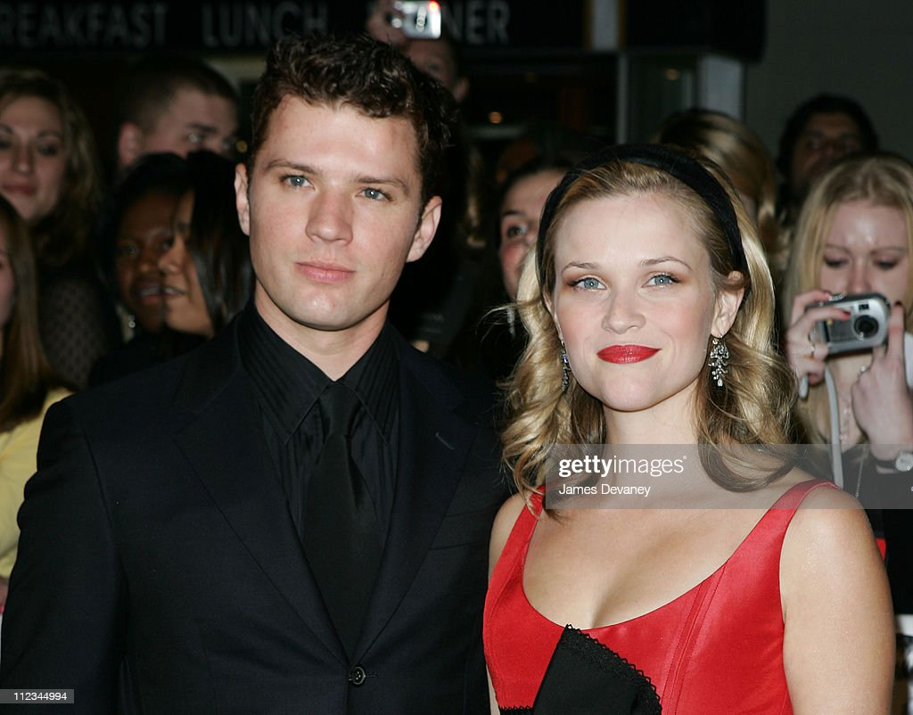 Ryan Phillippe and Reese Witherspoon during 20th Century Fox's 'Walk the Line' New York Premiere - Outside Arrivals at Beacon Theater in New York City, New York, United States.