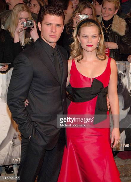 Ryan Phillippe and Reese Witherspoon during Country Takes New York City Presents 'Walk The Line' Premiere at Beacon Theater in New York City New York...