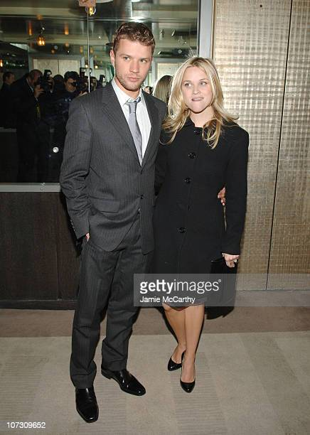 Ryan Phillippe and Reese Witherspoon during 'Flags of Our Fathers' New York City Screening Presented by The Cinema Society and Zenith Watches After...