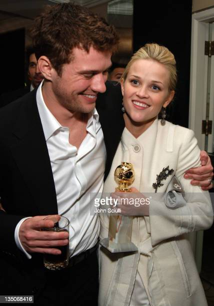 Ryan Phillippe and Reese Witherspoon during Fox 2006 Golden Globes After Party at Beverly Hilton Stardust Room in Beverly Hills California United...