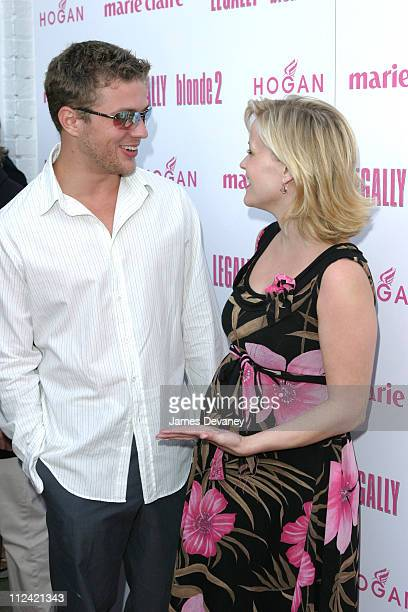 Ryan Phillippe and Reese Witherspoon during Legally Blonde 2 Red White Blonde Special Screening in Southampton New York at United Artists Southampton...