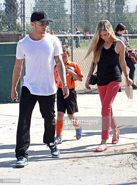Ryan Phillippe Paulina Slagter and Deacon Phillippe are seen in Brentwood on November 3 2012 in Los Angeles California