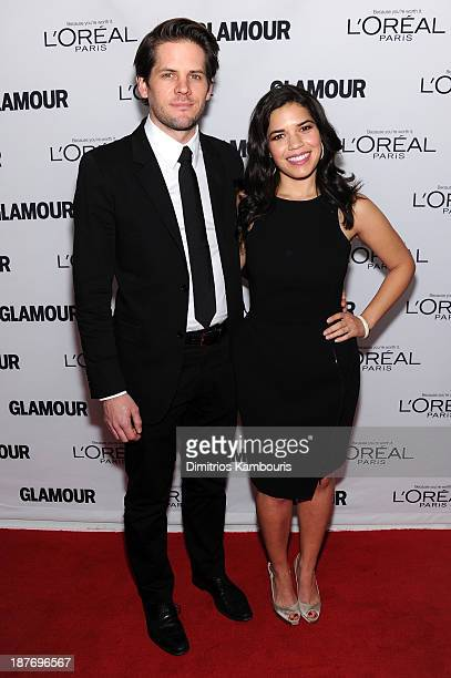 Ryan Piers Williams and America Ferrera attend Glamour's 23rd annual Women of the Year awards on November 11 2013 in New York City