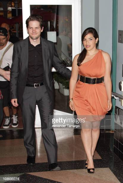 Ryan Piers Williams and America Ferrera attend Miami Premiere Screening of 'The Dry Land' at Colony Theater on August 21 2010 in Miami Beach Florida