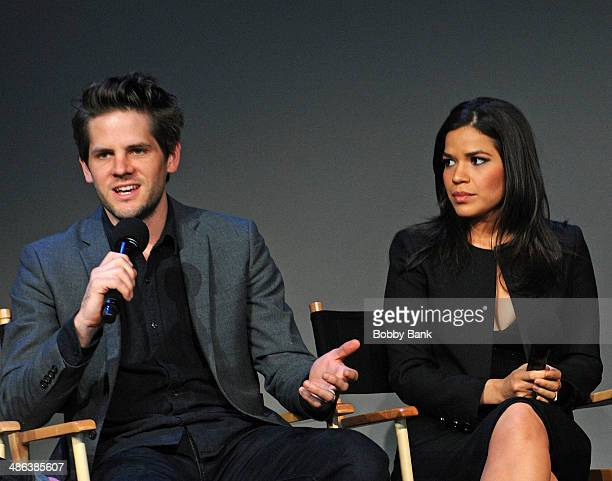 Ryan Piers Williams and wife America Ferrera attends the Apple Store Soho Presents Ryan Piers Williams America Ferrera and Jon Paul Phillips 'X/Y'...